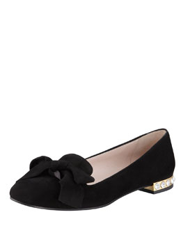 Miu Miu Jewel-Heel Suede Loafer