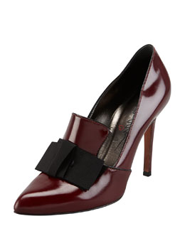 Lanvin Shiny Leather Oxford Pump