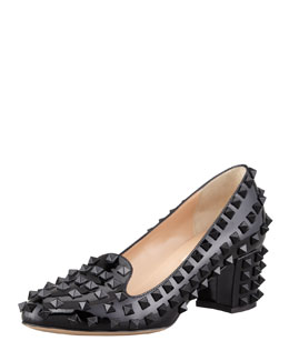Valentino Punk Rockstud Loafer Pump