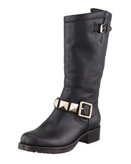 Valentino Rockstud Lined Boot