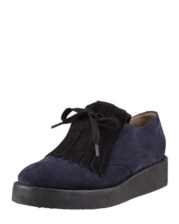 Marni Suede Kilty Oxford