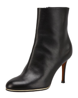 Givenchy Leather Golden-Midsole Ankle Boot