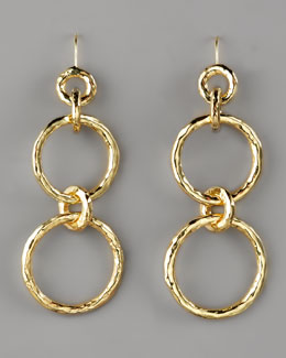 Ippolita Glamazon Hammered Link Earrings