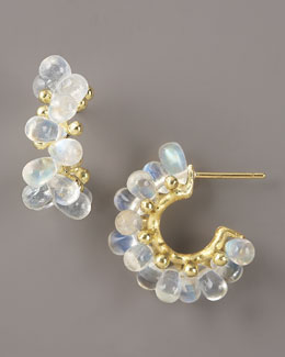 Joseph Murray Moonstone Hoop Earrings