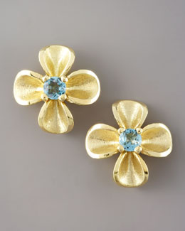 Joseph Murray Topaz Flower Studs