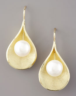 Joseph Murray Lily Pad Pearls Earrings
