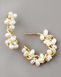 Joseph Murray Pearl Hoop Earrings