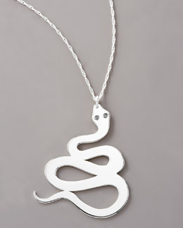Jennifer Zeuner Diamond Serpent Necklace