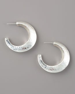 Ippolita Glamazon Silver Flat Hoop Earrings