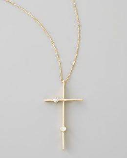 Lana Cross Necklace with Diamonds
