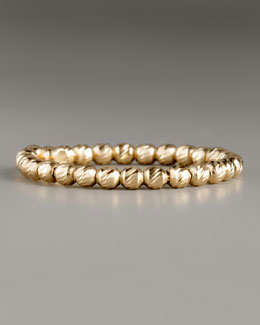 Lana Olivia Bead Ring, Yellow Gold