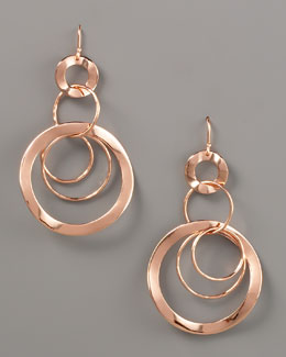 Ippolita Wavy Circle-Link Drop Earrings