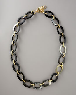 Ashley Pittman Pembe Chain Necklace, Dark Horn