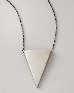 Eddie Borgo Triangle Pendant Necklace