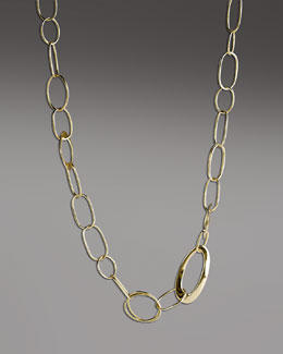 "Ippolita Handcrafted Gold Link Necklace, 18""L"