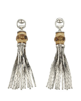 Gucci Tassel Bamboo Earrings