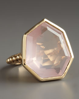 Stephen Dweck Faceted Rose Quartz Ring