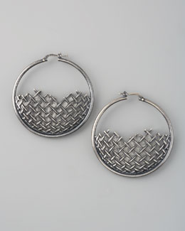 Bottega Veneta Woven Hoop Earrings