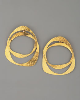Herve Van Der Straeten Circle Earrings