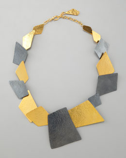 Herve Van Der Straeten Angular Square Necklace