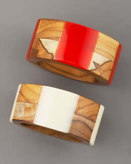 Tory Burch Wood & Resin Bangle
