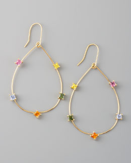 Lana Small Ombre Hoops w/ Multi Colored Sapphires