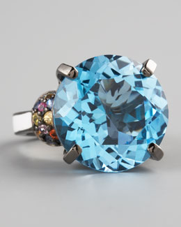 MCL by Matthew Campbell Laurenza Blue Topaz Ring