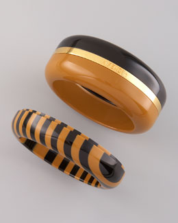 Fendi Interchangeable Enamel Bangles, Set of Three