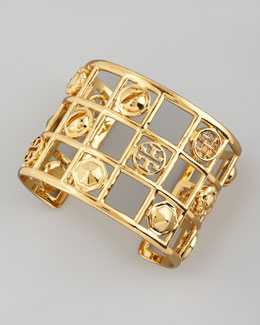 Tory Burch Labyrinth Frame Cuff, Golden