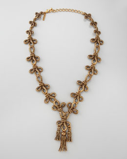 Oscar de la Renta Knot Necklace