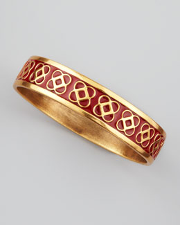 Oscar de la Renta Petal Logo Bangle, Ruby