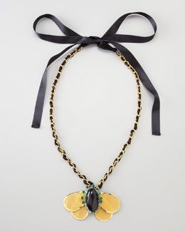 Marni Butterfly Necklace, Long