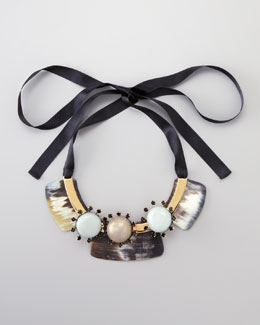 Marni Three-Stone Bib Necklace
