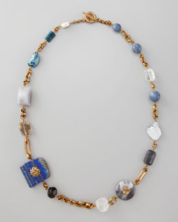 "Stephen Dweck Multi-Stone Necklace, 37""L"