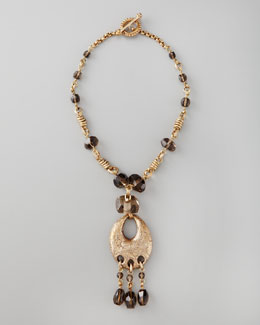 Stephen Dweck Smoky Quartz Pendant Necklace