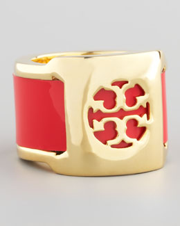 Tory Burch Patent Leather Band Ring, Lobster