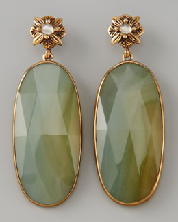 Stephen Dweck Elongated Agate Drop Earrings