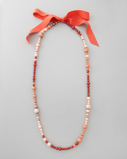 Lanvin Beaded Necklace, Coral
