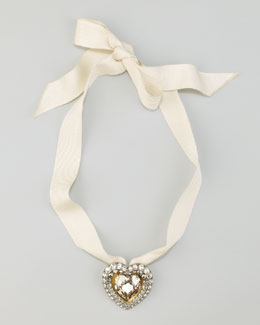 Lanvin Clear Heart Brooch