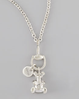 Gucci Bear Charm Necklace