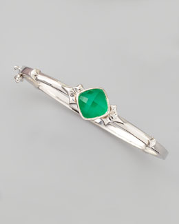 Stephen Webster One-Stone Crystal Haze Bracelet, Chrysoprase