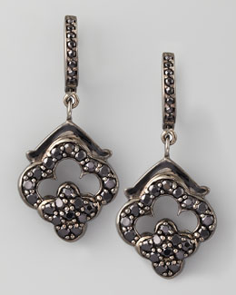 MCL by Matthew Campbell Laurenza Retro Black Spinel Earrings