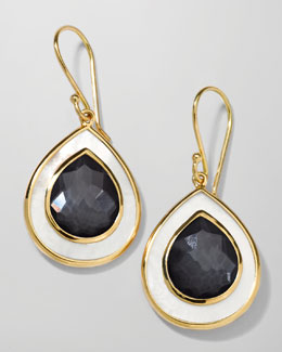 Ippolita Ondine Small Teardrop Earrings, Hematite