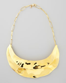 Alexis Bittar Bel Air Golden Bib Necklace