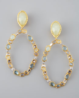 Alexis Bittar Siyabona Multi-Stone Clip Earrings