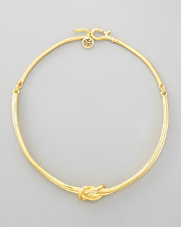 Tory Burch Hercules Knot Collar Necklace