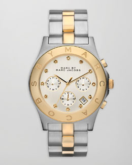 MARC by Marc Jacobs Blade Two-Tone Watch, Stainless Steel/Yellow Golden
