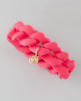 MARC by Marc Jacobs Rubber Turnlock Bracelet, Knockout Pink
