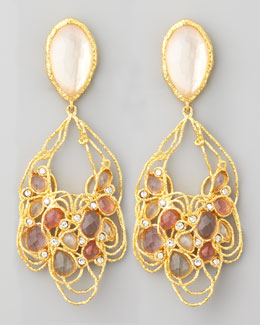 Alexis Bittar Floral Lace Clip Earrings
