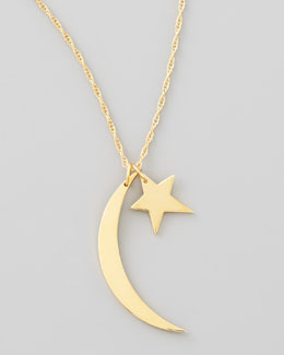 Jennifer Zeuner Moon & Star Charm Necklace